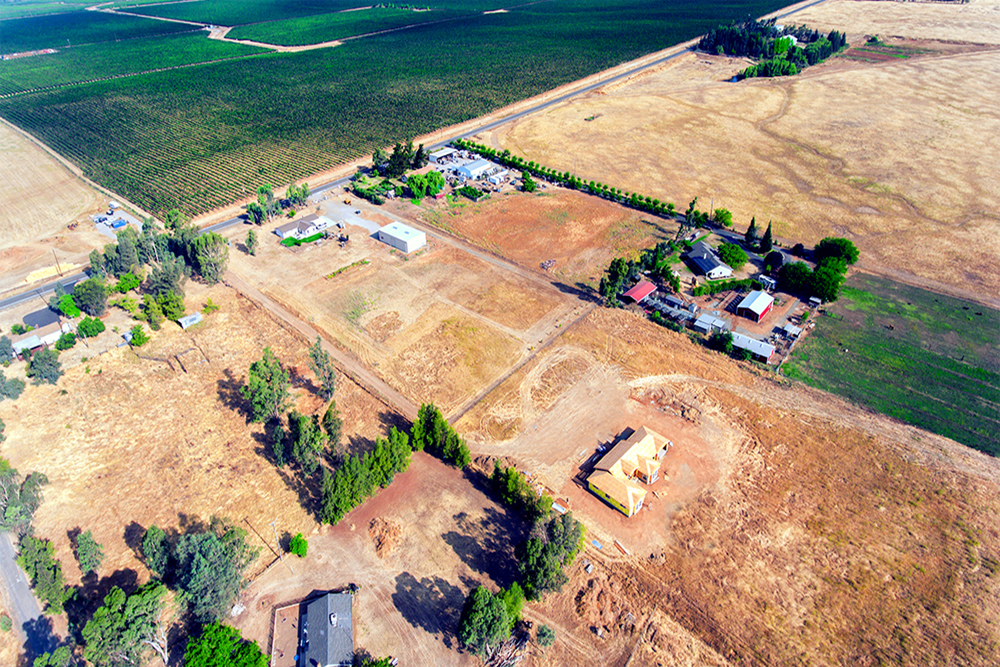 aerial photography elk grove