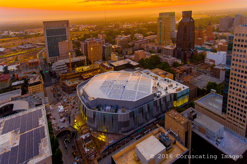 aerial photography golden one center