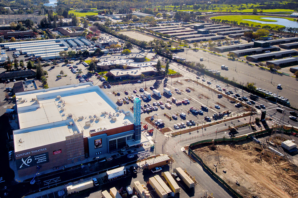 Aerial Construction Photography Cinemark